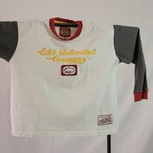 Ecko Unlimited Long Sleeve Shirt size Small Tan Ye